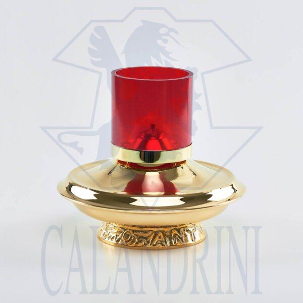 Lucerna vetro rosso